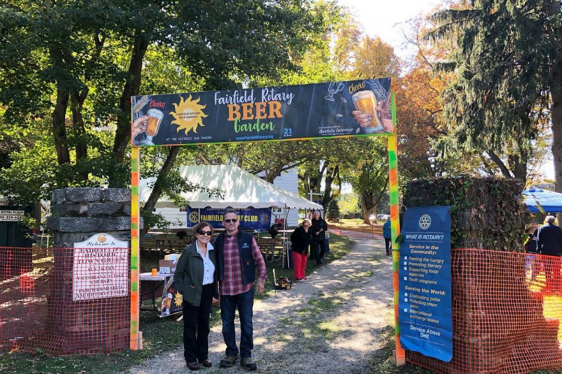 Rena Fortuna and Sam Topal, Fairfield Rotary Beer Garden, 2019