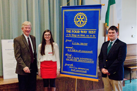Sponsoring HS Student Four Way Test Competition